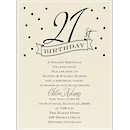 21st Confetti Birthday Party Invitation