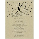 30th Confetti Birthday Party Invitation