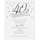 40th Confetti Birthday Party Invitation