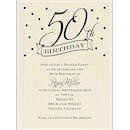 50th Confetti Birthday Party Invitation