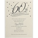 60th Confetti Birthday Party Invitation