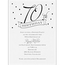 70th Confetti Birthday Party Invitation