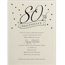 80th Confetti Birthday Party Invitation