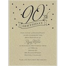 90th Confetti Birthday Party Invitation