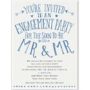 Almost Mr. And Mr. Engagement Party Invitation