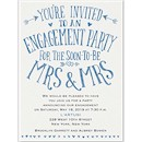 Almost Mrs. And Mrs. Engagement Party Invitation