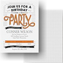 Banners and Dots Birthday Party Invitation