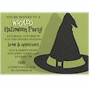 Bewitched Wicked Hat Halloween Party Invitation