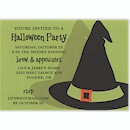 Bewitched Hat Halloween Party Invitation