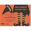 Bewitched Spider Hat Halloween Party Invitation