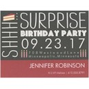 Birthday Caper in Black Birthday Party Magnet