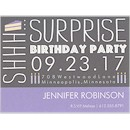 Birthday Caper in Slate Birthday Party Magnet