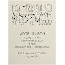 Birthday Monster Bash Birthday Party Invitation