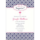Blue Geometric Birthday Party Invitation