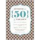 Brown & Blue Chain Link Birthday Party Invitation