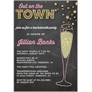 Bubbly Chalkboard Bachelorette Party Invitation