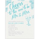 Bubbly Cheers Engagement Party Invitation