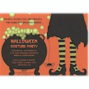Caldron Bubbles Witchy Woman Halloween Invitation