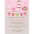 Candy Buffet in Pink Birthday Party Invitation