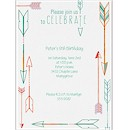 Celebration Arrows Birthday Party Invitation