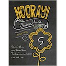 Chalkboard Hooray Birthday Party Invitation