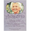 Cherished Memories Sympathy Acknowledgement Card