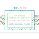 Chevron Gender Reveal Party Invitation