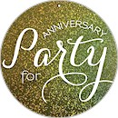 Circle Party Anniversary Party Invitation