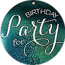 Circle Party Birthday Party Invitation