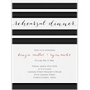 Classic Stripes Rehearsal Dinner Invitation