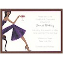 Cocktail Chic Birthday Party Invitation