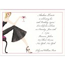 Cocktail Girl Blonde Birthday Party Invitation