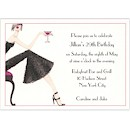 Cocktail Girl Brunette Birthday Party Invitation