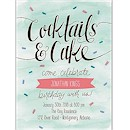 Cocktails and Cake Birthday Party Invitation