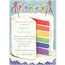 Colorful Party Cake Birthday Party Invitation