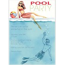 Cool at the Pool Party Invitation