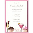 Cupcakes & Cocktails Party Invitation