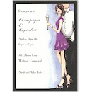 Cute Champagne Couple Party Invitation