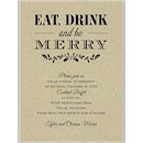 Eat Drink Merry Party Invitation