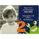 Far Out Photo 2nd Birthday Party Invitation