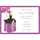 Fashionable Party Girl Birthday Party Invitation