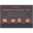 Fenced in Jack-o-Lantern Halloween Invitation