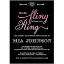 Final Fling Pink Bachelorette Party Invitation