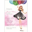 Floating Party Girl Birthday Party Invitation