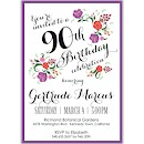 Floral Garden Birthday Party Invitation