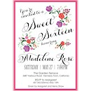 Floral Garden Sweet 16 Invitation