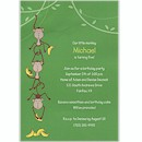 Funny Monkeys Birthday Party Invitation