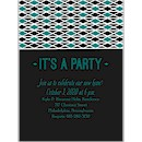 Geometric Deco Party Invitation