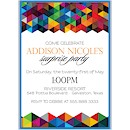 Geometric Suite D Party Invitation
