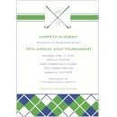 Golf Plaid Party Invitation
